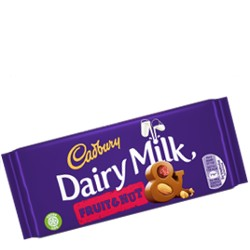 CADBURY DAIRY MILK WITH FRUIT & NUT 110γρ.