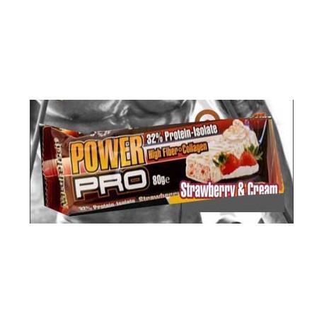 Μπάρα πρωτεΐνης Power Pro - Φράουλα Κρέμα 80γρ